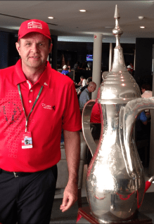 Randall Grant with the Silver Chalice in Dubai