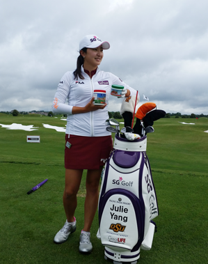 Julie Yang Golfing
