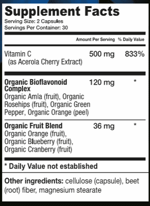 Orgainic Fruit Blend - Supplement Facts