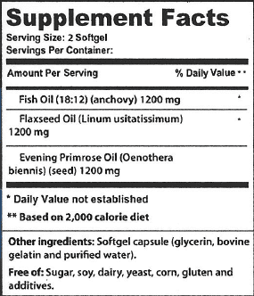 Omega Supplement Facts